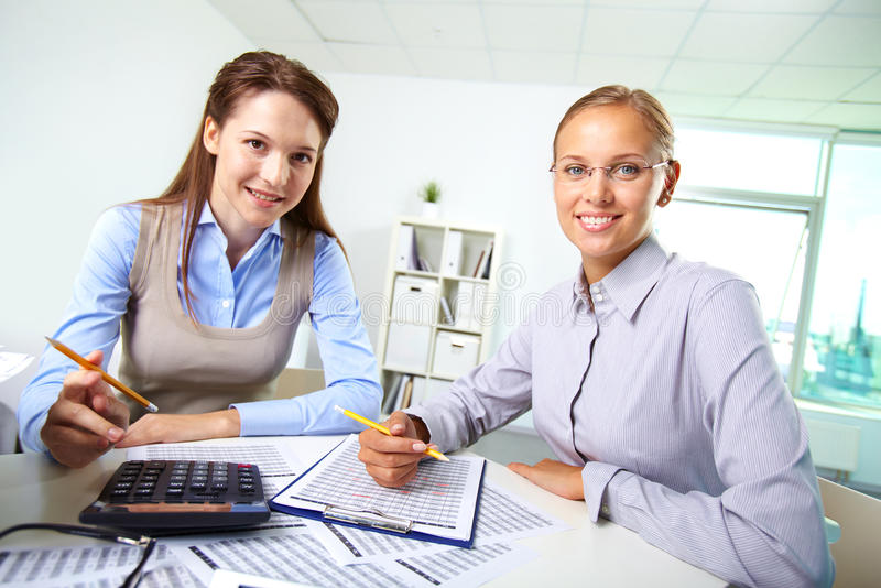 Download Happy colleagues stock photo. Image of economical, estimation - 33213312