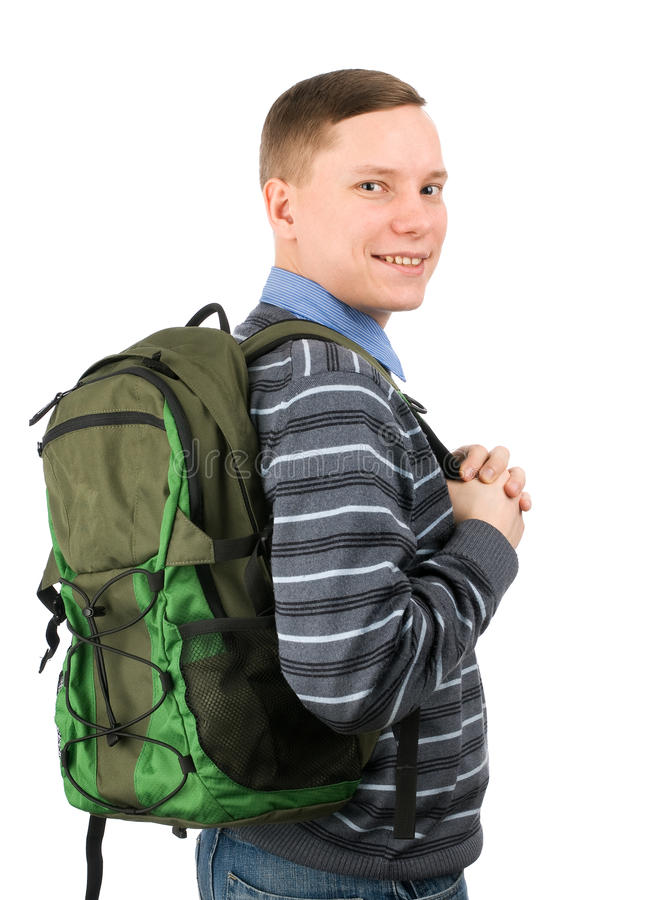 Happy College Student royalty free stock photography