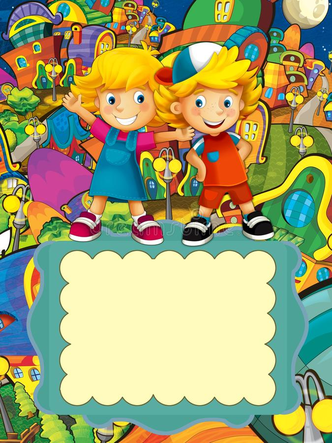 Download The Group Of Happy Preschool Kids - Colorful Illustration For The Children Royalty Free Stock Image - Image: 30197206