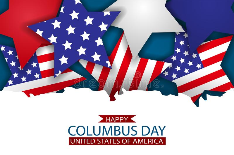 Happy Columbus Day Design Concept. USA National Holiday Background Wallpaper. Cover For Advertisement, Shopping Promotion. Stock Vector - Illustration of blue, celebration: 158051015