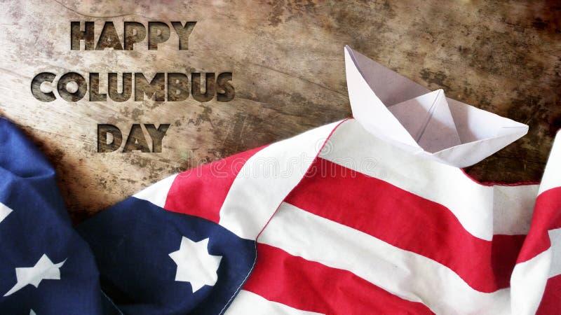 Happy Columbus Day. royalty free stock image