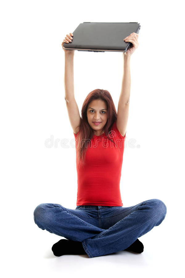 Happy Computer User Royalty Free Stock Images