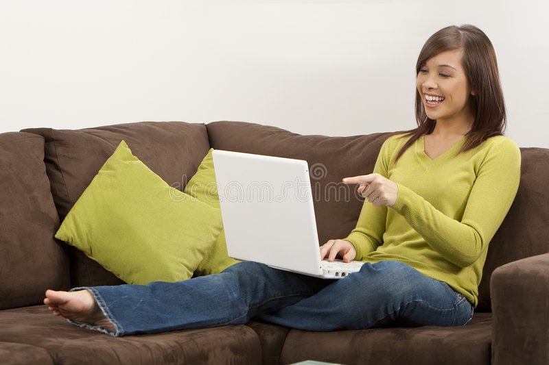 Download Happy Computing stock image. Image of internet, female - 8001395