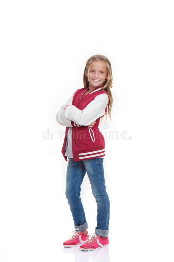 Happy Confident Fashion Child Stock Photo
