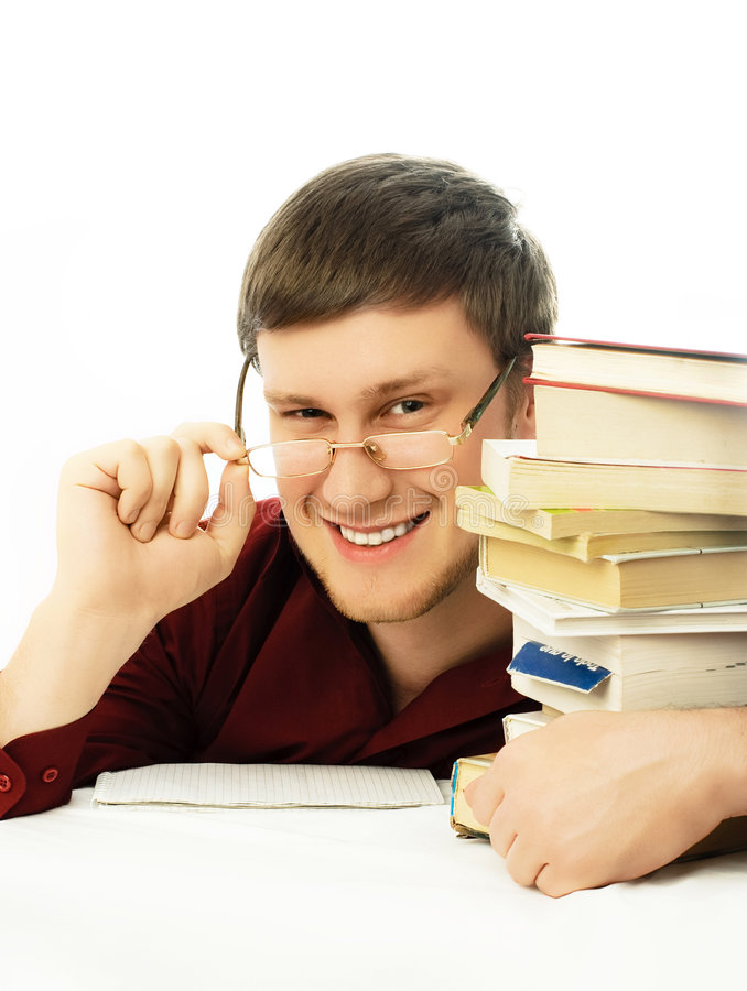 Download Happy Confident Student With Books Stock Image - Image: 7912817