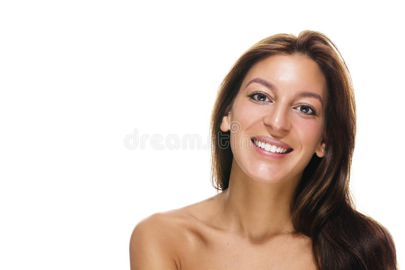 Happy confident woman stock images
