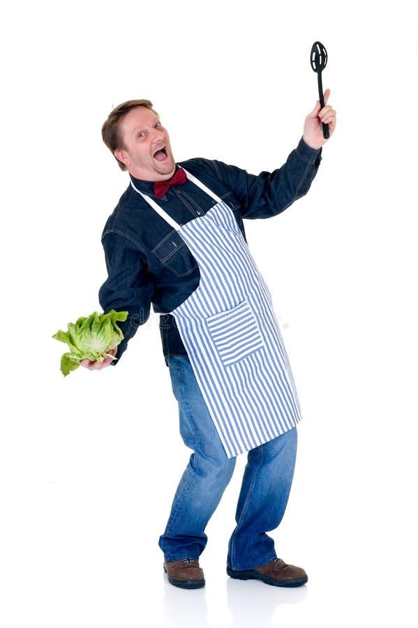 Happy cook stock image