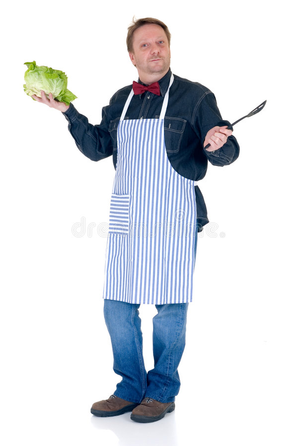 Happy cook stock photography