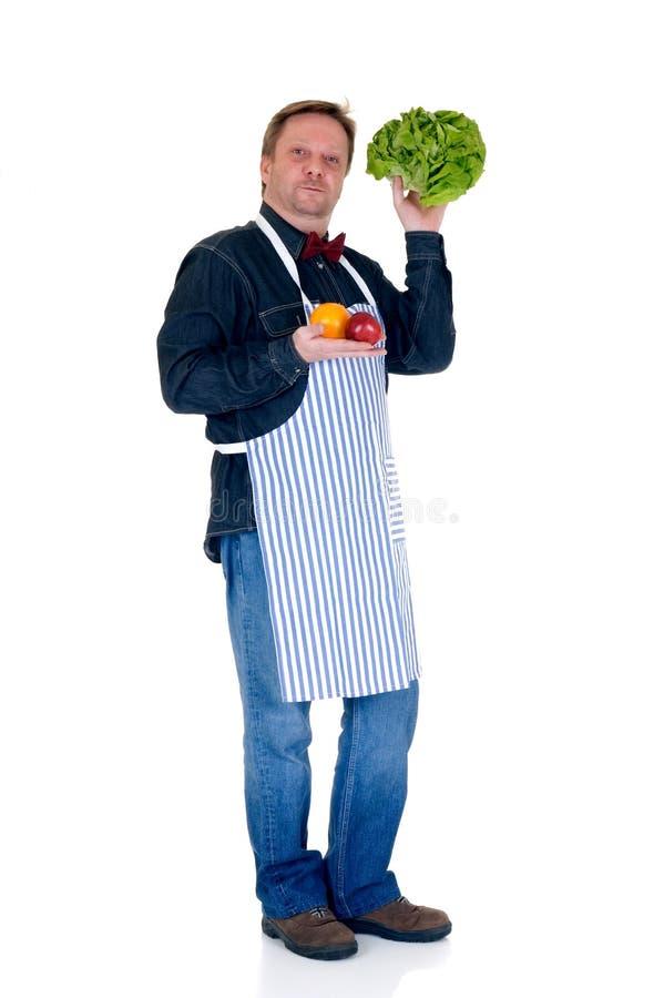 Happy cook stock photos