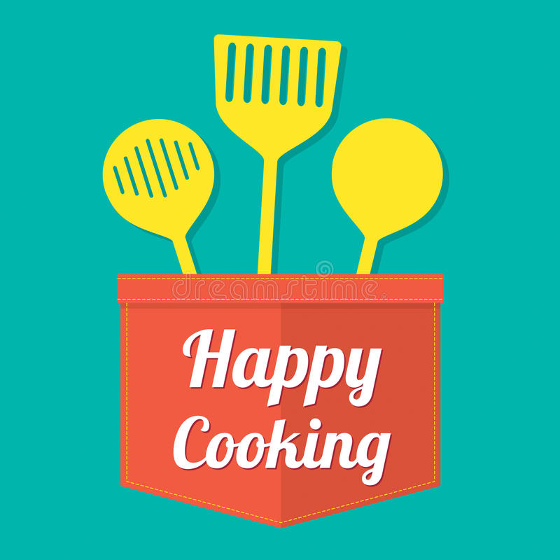 Happy Cooking stock illustration