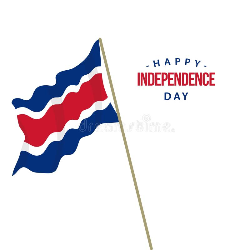 Happy Costa Rica Independence Day Vector Template Design Illustration vector illustration