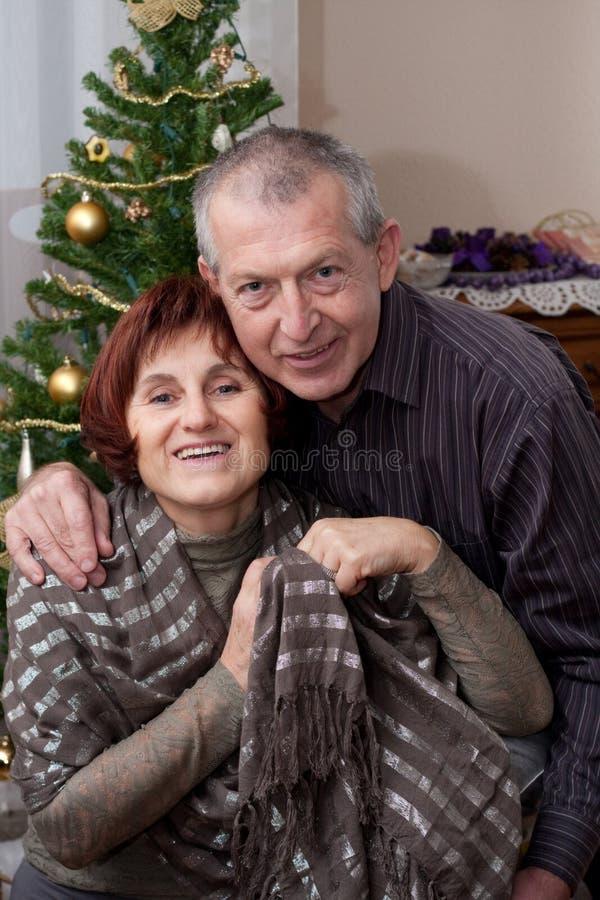 Download Happy couple stock image. Image of elderly, woman, christmas - 12380411