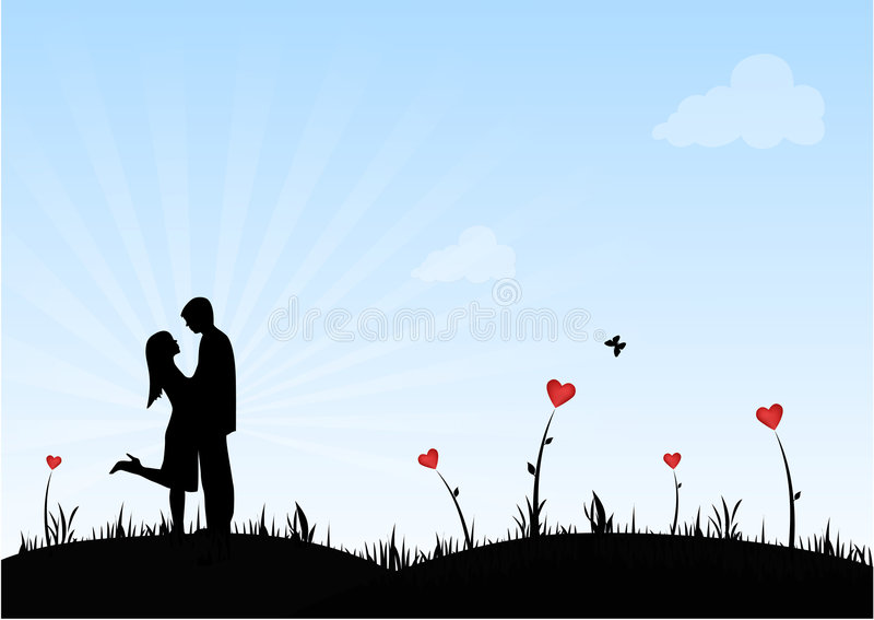 Download Happy Couple stock vector. Image of shape, greeting, honeymoon - 1851491