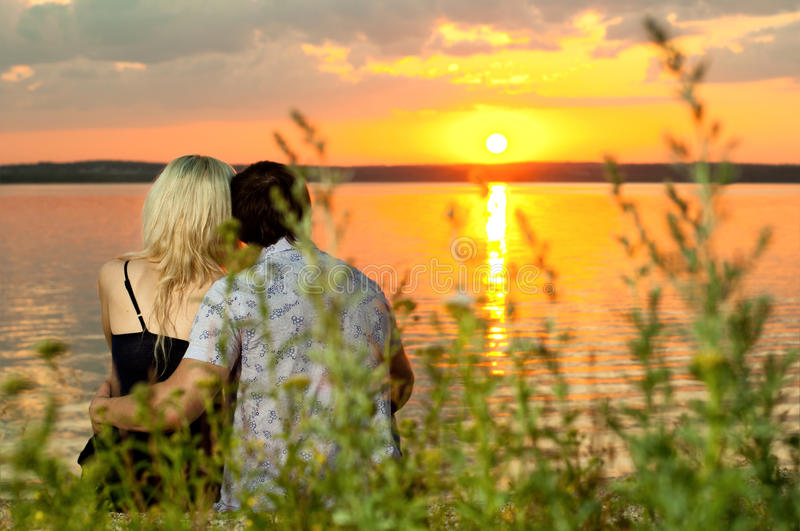 Download Happy  couple stock image. Image of love, cutie, lake - 23383065