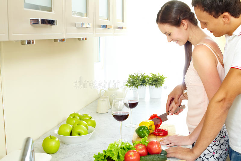 Download Happy couple stock image. Image of adult, diet, helping - 27379441