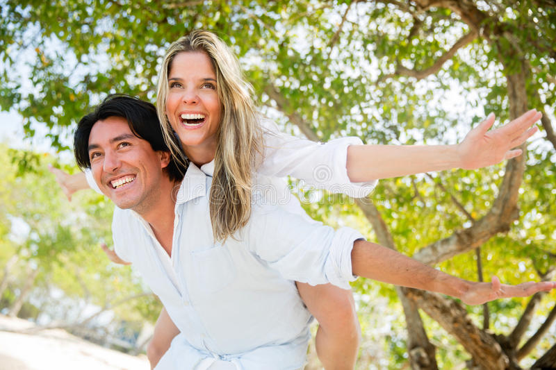 Download Happy couple stock photo. Image of summery, love, nature - 28772620