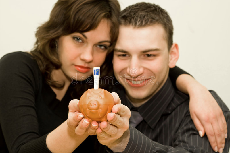 Download Happy couple 3 stock photo. Image of economy, person, save - 4309246