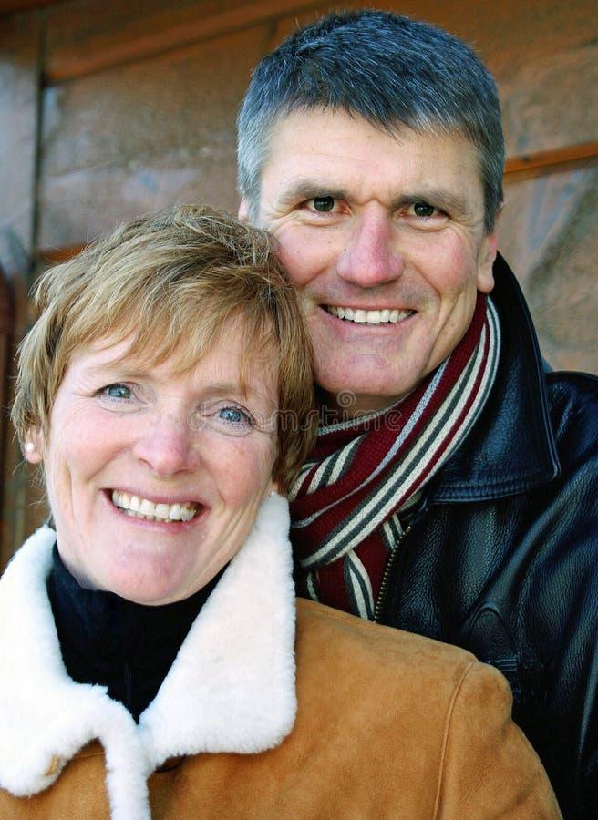 Download Happy Couple stock photo. Image of coats, scarf, seniors - 5239392