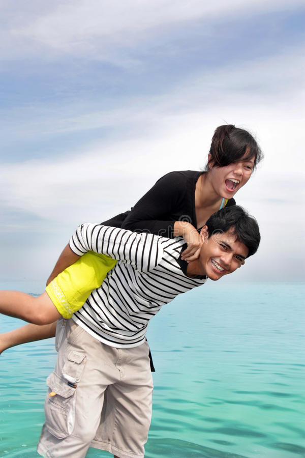 Download Happy couple stock photo. Image of embracing, cheerful - 9501822