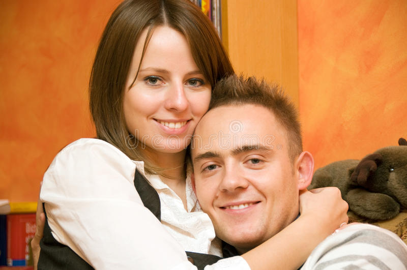 Happy couple stock image