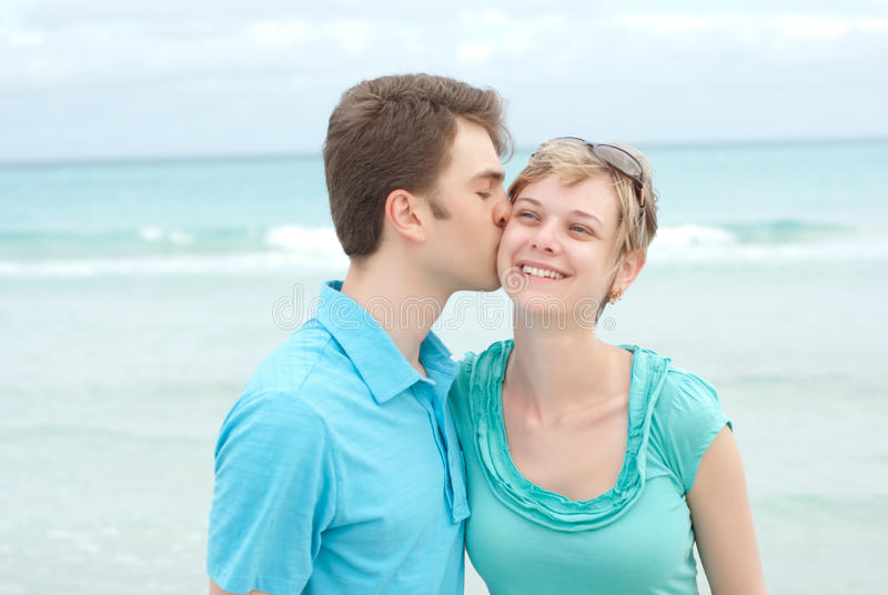 Download Happy couple on the beach stock photo. Image of adult - 19699480