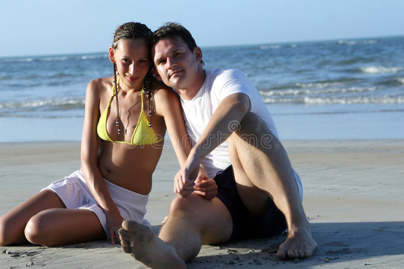 Download Happy Couple On The Beach Royalty Free Stock Photo - Image: 4616305