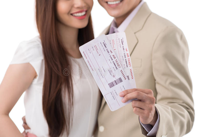 Download Happy Couple With Boarding Passes Stock Image - Image: 41086939