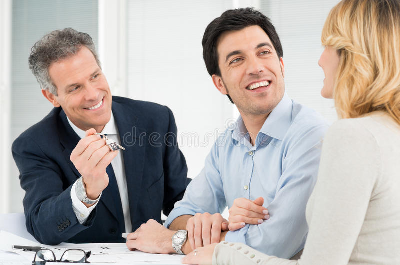 Happy Couple Buying A New House royalty free stock photography