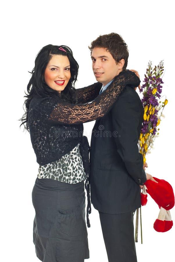 Happy Couple Celebrate Valentine S Day Royalty Free Stock Photography