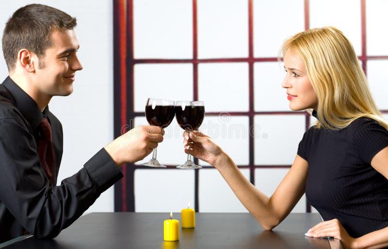 Happy Couple Celebrating Royalty Free Stock Image