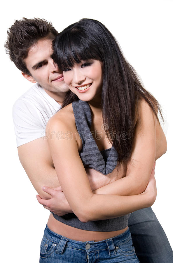 Happy Couple (With Clipping Path) royalty free stock image