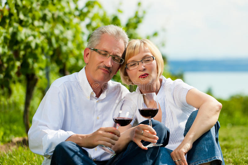 Download Happy Couple Drinking Wine At Lake In Summer Stock Image - Image: 20125103