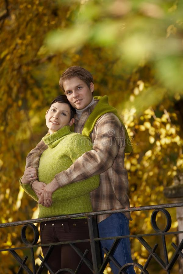 Download Happy Couple Embracing In Park Stock Image - Image: 25641841