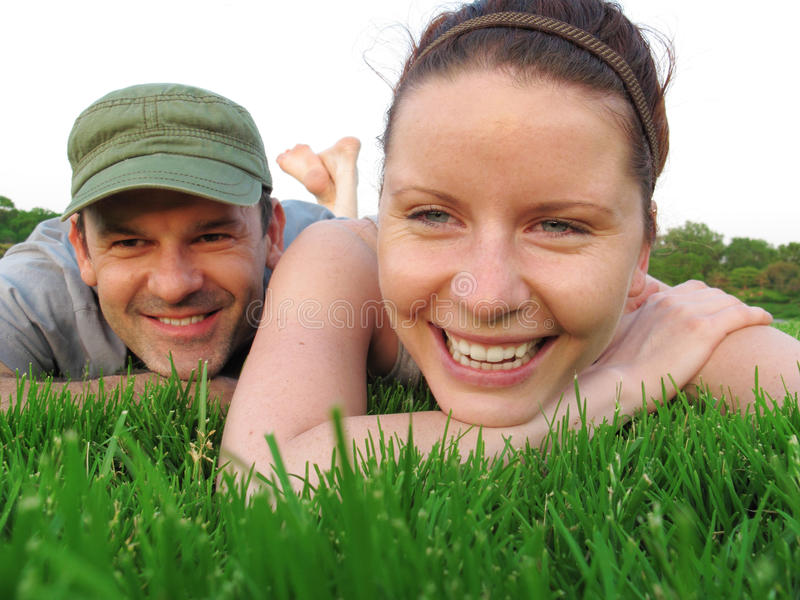 Download Happy Couple Enjoy Summer Day In The Park. Stock Photo - Image: 20125862