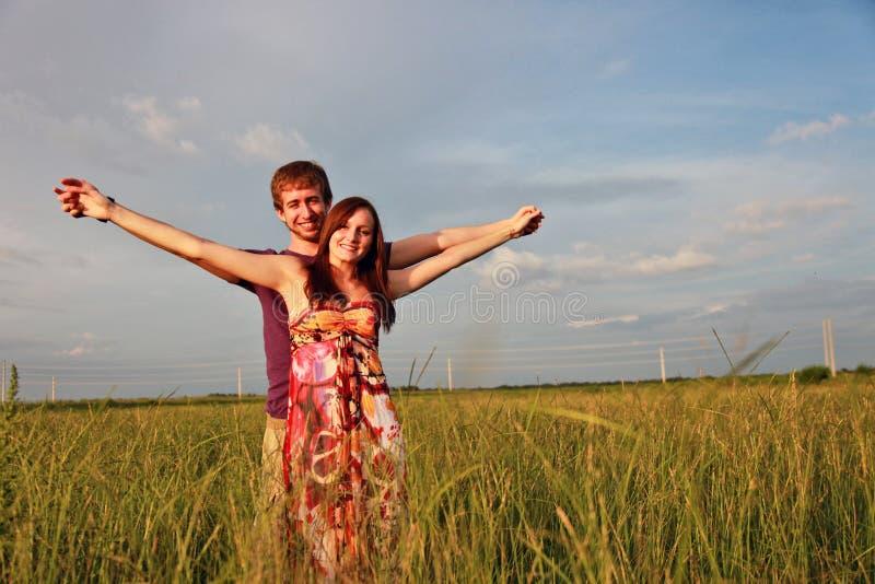Happy couple in Field