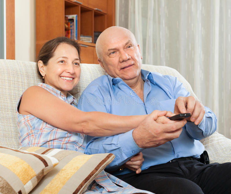 Download Happy Couple Grandparents In The House Stock Photo - Image: 43642806