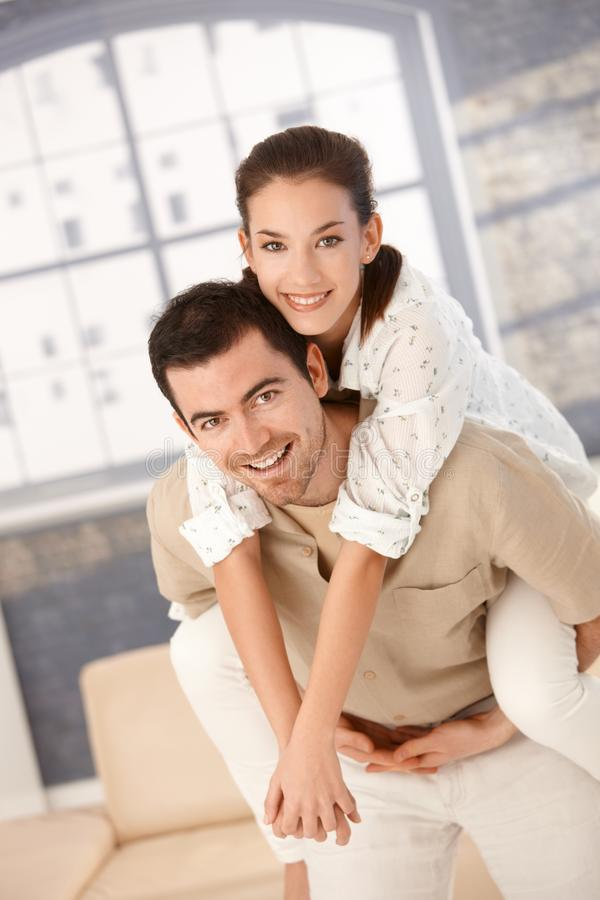 Download Happy Couple Having Fun At Home Royalty Free Stock Image - Image: 18589996