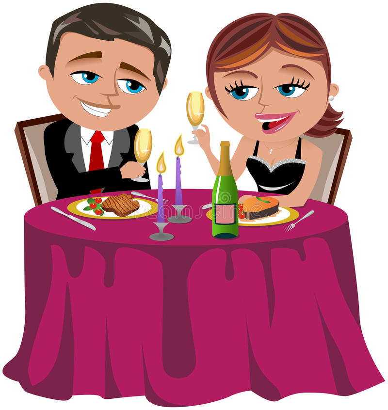 Happy Couple Having Romantic Dinner Royalty Free Stock Photography