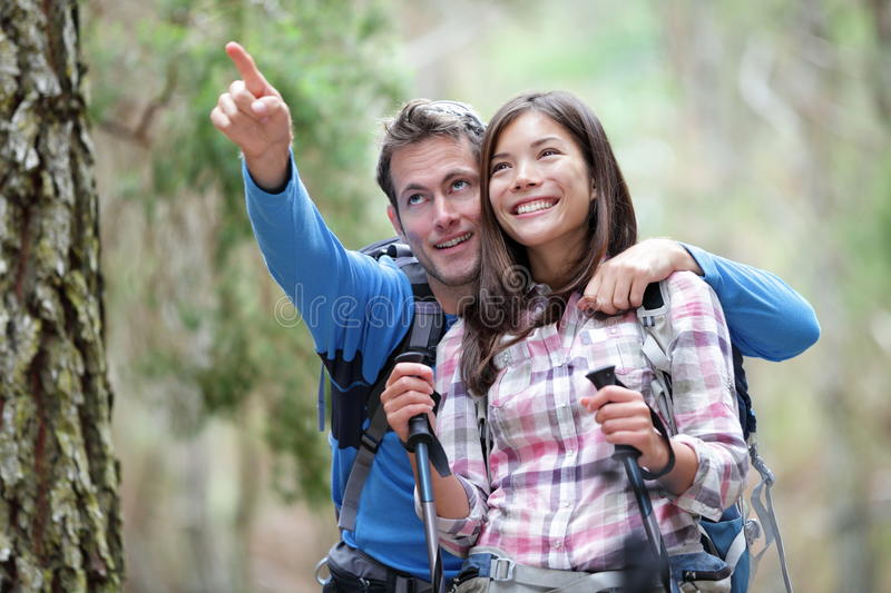 Download Happy couple hiking stock photo. Image of adults, active - 19422810