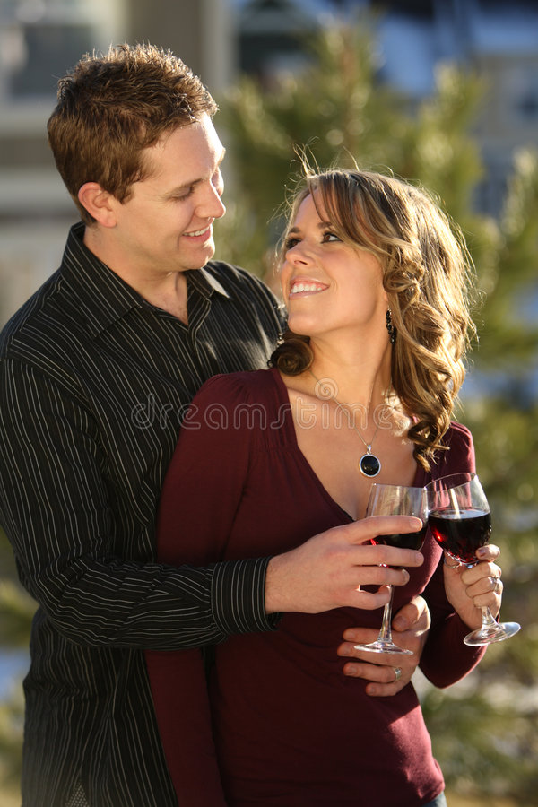 Happy Couple, Holidays royalty free stock images
