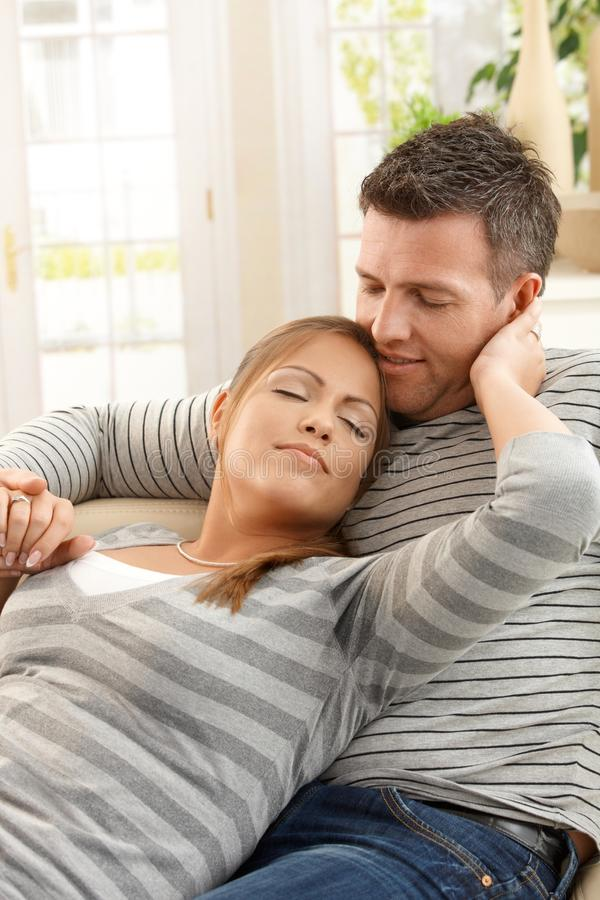 Download Happy couple at home stock photo. Image of eyes, enjoy - 22856508