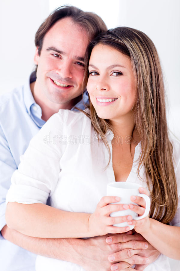 Download Happy couple at home stock image. Image of indoors, person - 26657205