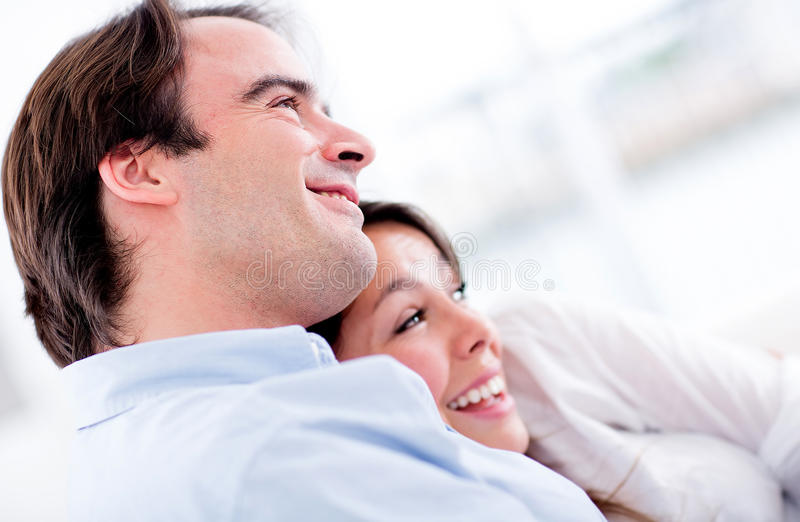 Download Happy couple at home stock photo. Image of relaxing, cheerful - 26794302
