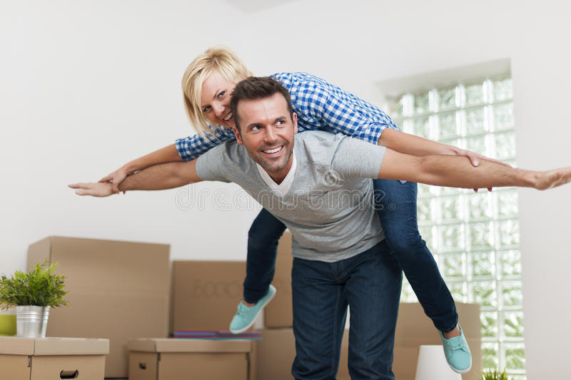 Happy Couple At Home Royalty Free Stock Images