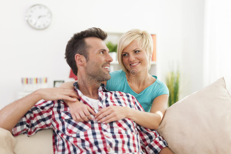 Download Happy couple at home stock photo. Image of looking, enjoyment - 37800946