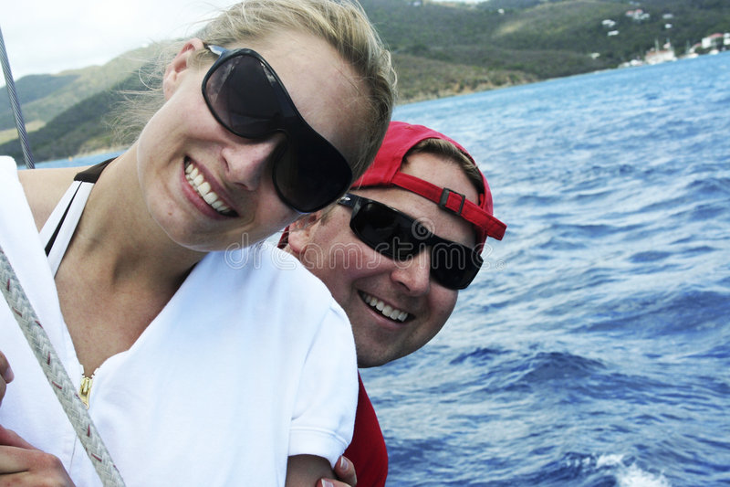 Happy Couple on Honeymoon royalty free stock photography