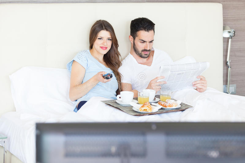 Download Happy Couple at Hotel Room stock image. Image of hotel - 39859313