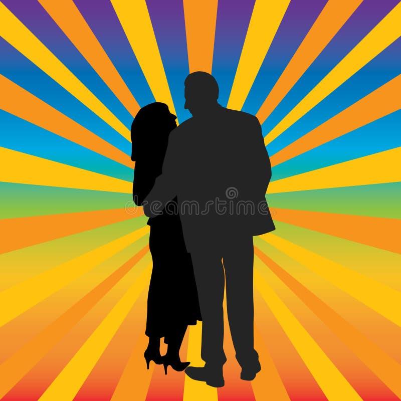 Happy Couple Hugging Stock Photography