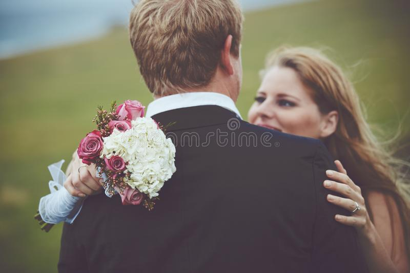 Happy Couple Just Married stock photo