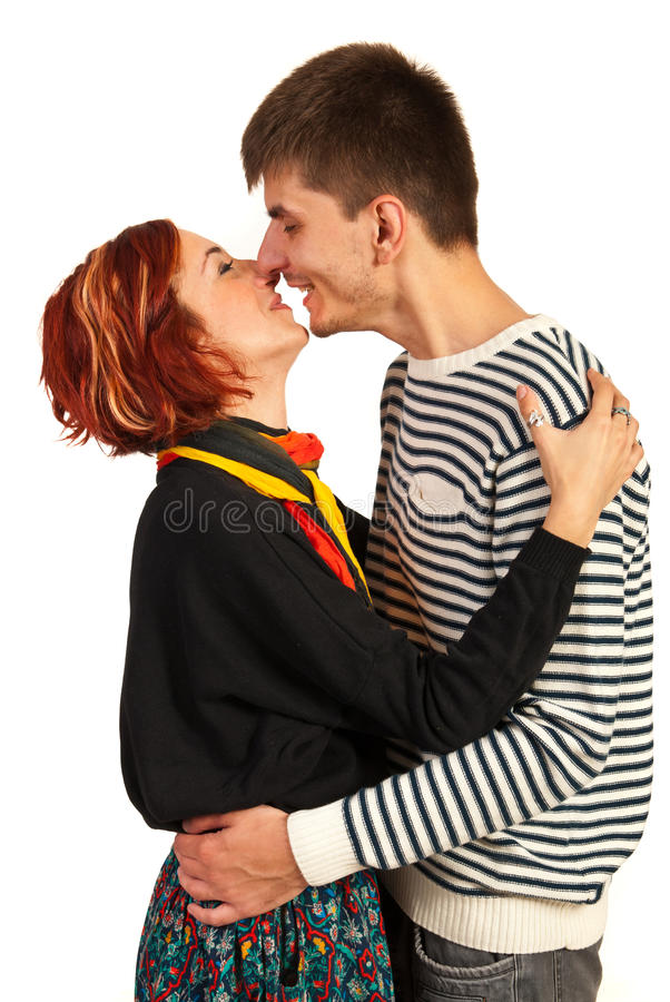 Download Happy couple kissing stock image. Image of pretty, people - 34488805